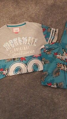 mckenzie girls tshirt and leggings 12 -13 yrs