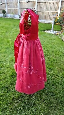 Flower Girl Dress Mini Mode Red Bridesmaid Party Xmas Age 3-4