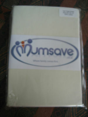 Mumsave Cotton Cot fitted sheet-cream-60 x 20cm = Excellent Condition-NEW-sealed