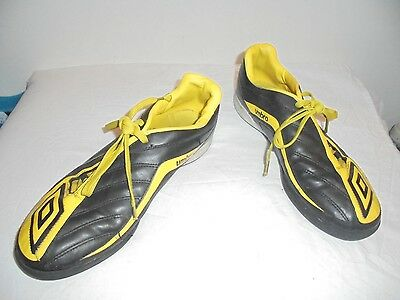 Umbro Mens Black And Yellow Trainers Size 9