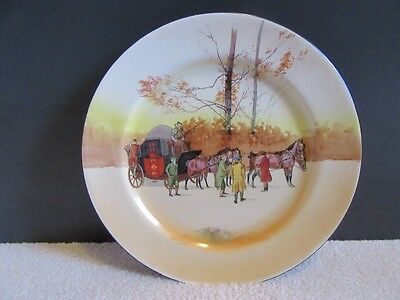 Vintage Royal Doulton Coaching Days Wall Plate Plaque Charger - 1902 - 1922
