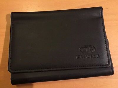 Kia Owners Handbook/Manual and Leather Wallet