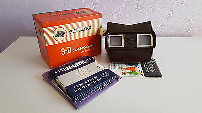 Vintage 1950's Viewmaster Model E, Boxed With Reels.
