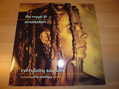 """12"""" - THE MAGI & EMANATION - EVERYBODY SAY LOVE (THE PRODIGY REMIX) - 1st PRESS!"""