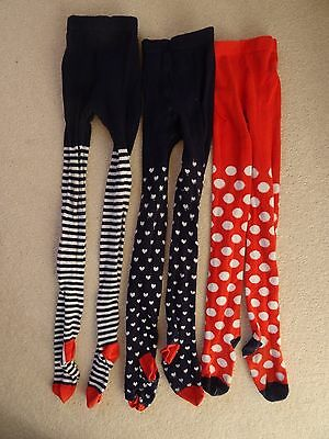 Bundle 3 Pairs nice warm girls tights age 7yrs