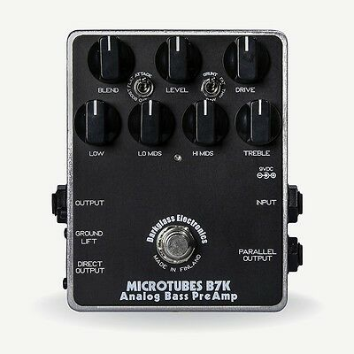Darkglass Microtubes B7K Analog Bass Preamp Overdrive Distortion Guitar FX Pedal