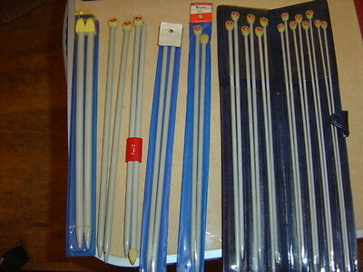 Small  Knitting Needle Set In Case 7 Pairs Plus 5 Extra pairs (12 pairs total)