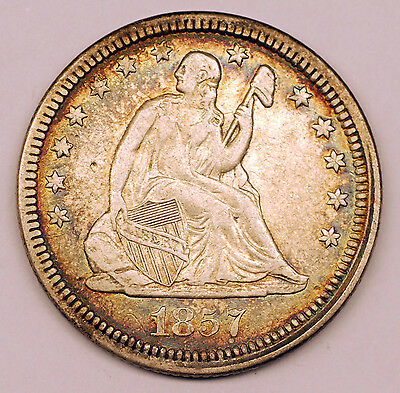 1857 United States Silver 1/4 Quarter Dollars Coin