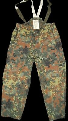 GERMAN ARMY GORETEX TROUSERS S, M,  L, XL, XLL MVP, GORE-TEX, FLECKTARN flectarn