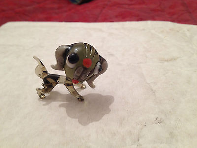 Murano Vintage Glass Model Of A Dog With Oversize Head 50S/60S/70S