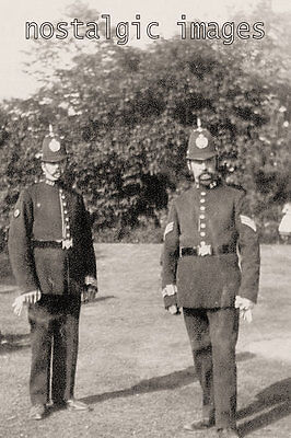 PHOTO TAKEN FROM AN EDWARDIAN image OF TWO BIRMINGHAM POLICE OFFICERS