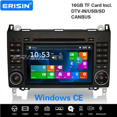 """7"""" Car Reproductore DVD GPS for Mercedes Benz A/B Class W169 W245 Vito 7170BGS"""