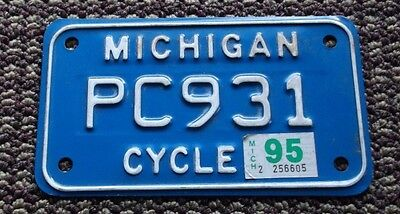 Michigan 1995 Motorcycle License Plate