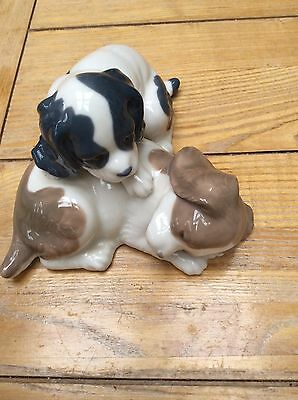 Nao Lladro China Two Dogs Puppies Ornament Spaniels?