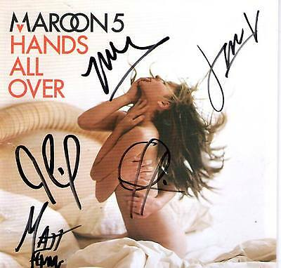 Maroon 5 Hands All Over signed autographed CD booklet Adam Levine - Five -