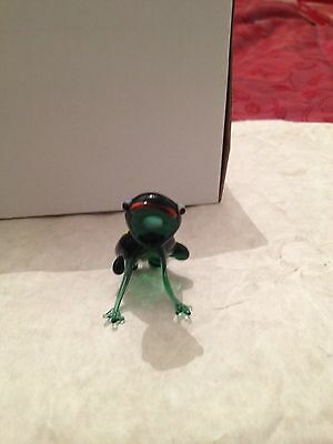 Murano Vintage Glass Model Of A Crazy Frog