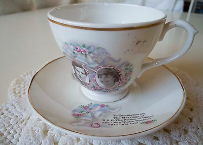 Royal Wedding Cup and saucer Charles & Diana Mayfair Pottery