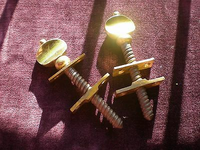 Pair Brass Sash Bolts For Sash Window Security