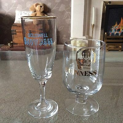 Guinness  Glass NUCSHM Conference 1979 and  Goldwell snowball glass