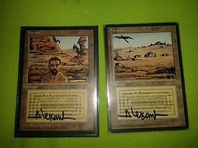 Mtg savannah fbb x 2.altered and signed.