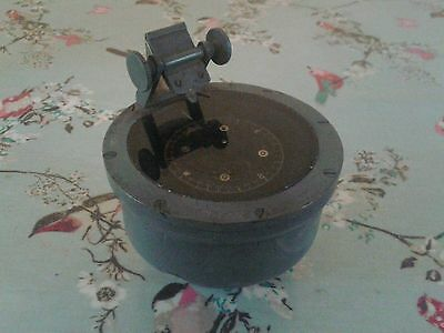 Vintage maritime hand compass in the style of henry brown serial number 12036 h