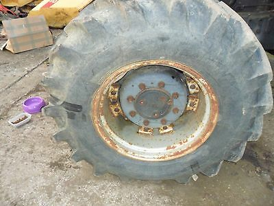 case 5140 maxxum tractor front wheel and tyre 14.9/24 alliance power drive radia