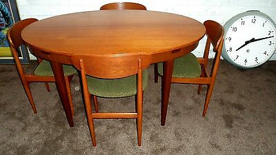 Mid Century Retro Greaves And Thomas Teak Dining Table And Butterfly Back Chairs