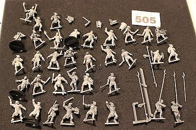 Games Workshop Lord of the Rings Uruk Hai Warriors Job Lot 35 Figures Army Uruks