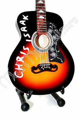 Miniature Guitar CHRIS ISAAK with free stand