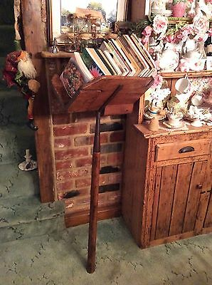 Beautiful Very Rare Antique Wooden Bricklayers Hod