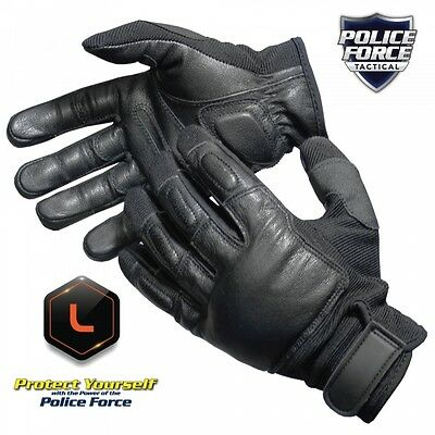 Great Gift! Police Force Tactical Sap Gloves, Large, Streetwise Security.