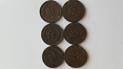 Early India states copper coins x6