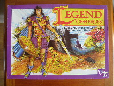 Legend Of Heroes RPG Board Card Adventure Game TSR 1987 Dungeons & Dragons Rare