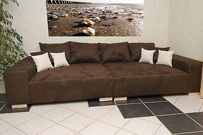 Big Sofa XXL Mega Schlaf Couch Big Couch Federkern, Made in Germany, FARBAUSWAHL