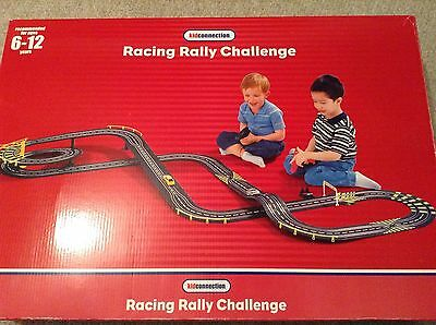 Kidconnection 2 Car Racing Rally Challenge Mains Powered Original Box Scalextric