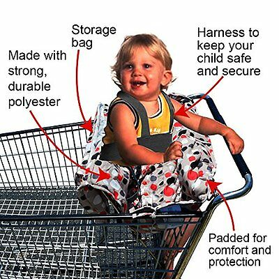 2 in 1 Shopping Cart and High Chair Cover to Keep Your Baby or Child Safe