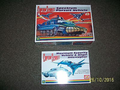 captain scarlet plastic models by amerang ready made