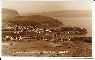 Superb Judge's Published R.p. Postcard Of Portree Isle Of Skye From Golf Course