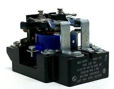 Used Deltrol Controls 900 Dpdt Coil 1.5Hp Or 30A 120/240 Vac 1 Ph Kb