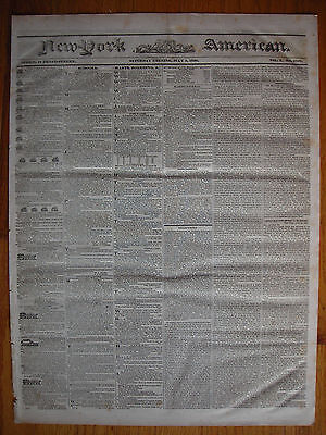 New York American newspapers, July 3 & 6, 1830