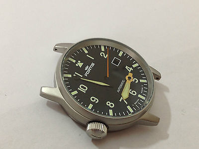 Fortis Flieger Gents Complete Watch Case Set,black Dial.with Auto Rotor