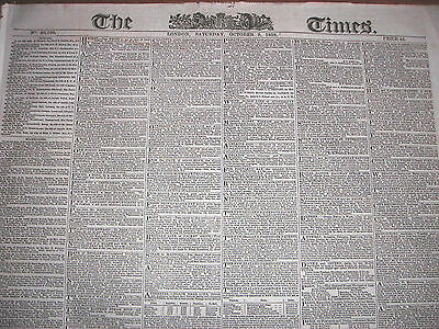 The Times (London) newspapers, October 9 & 11, 1858