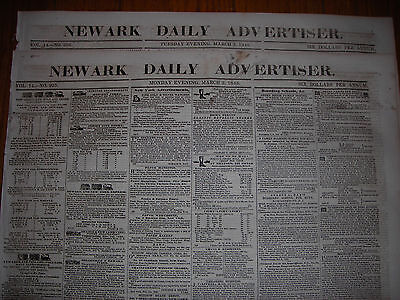 Newark Daily Advertiser (NJ) newspaper, March 2 & 3, 1846