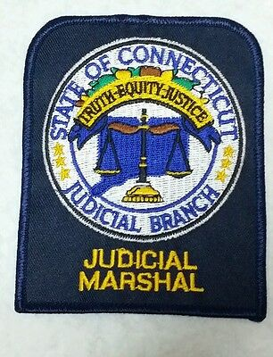 Connecticut Judicial Marshal Police Shoulder Patch Ct
