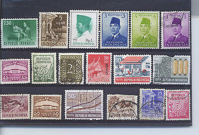 Indonesia  Small Collection Of Stamps P12 Lb
