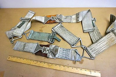 """Bell UH-1 """"Huey"""" Helicopter Pilot's Seat Belts - 2ea"""
