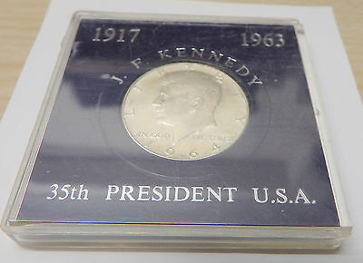 JFK: Commemorative Half Dollar Coin: Uncirculated and Cased: