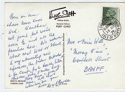 HOSTA BEACH: North Uist postcard with LOCHMADDY postmark (C22830)