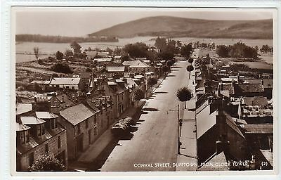 CONVAL STREET, DUFFTOWN FROM CLOCK TOWER: Banffshire postcard (C22856)