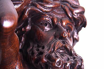 19C Italian Carved Walnut Classic Caryatid Wall Pilasters Architectural Element